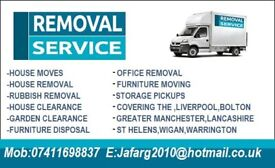 Man and van Removals, House clearance, House Removals, Rubbish Removals, Bootle, Maghull, Formby