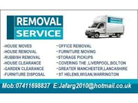 Man and van Removals, Wallasey, Birkenhead, Liverpool, Rubbish Removals, House Clearance