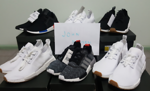 White & Black Gum NMD R1, XR1 OG NMD, Black Glitch NMD R1 Green Valley Liverpool Area Preview