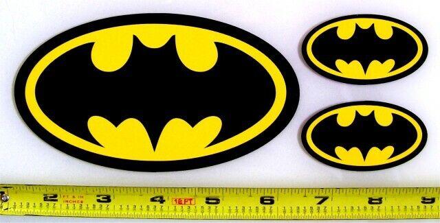 Home Decoration - Batman Symbol - Set of 3 HQ 2 Color Vinyl Sticker Decals!