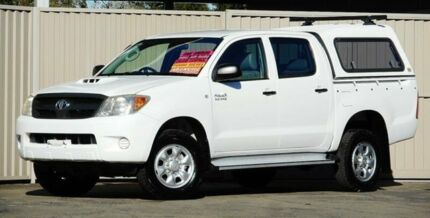 2007 Toyota Hilux KUN26R 07 Upgrade SR (4x4) White 5 Speed Manual Dual Cab Pick-up Lismore Lismore Area Preview