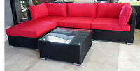 ON SALE! Roma – Patio Furniture Red Sectional Sofa