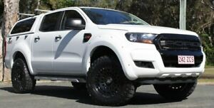 2015 Ford Ranger PX XL Double Cab White 6 Speed Sports Automatic Utility Southport Gold Coast City Preview