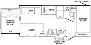 For sale 2008 Keystone Outback 21RS Travel Trailer