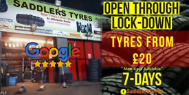 SADDLERS TYRES | Brand New & Used Tyres FROM £20