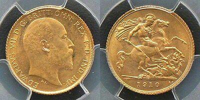 1910 EDWARD VII SOVEREIGN GOLD PLATED COIN Souvenir