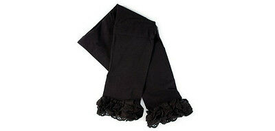New Trumpette BLACK LACY LEGGINGS 6-12 Months, 12-18 months Baby Toddler gift ()