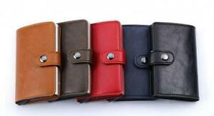 Wallet for men - Anti-Rfid Card Pop Up with Secure Button