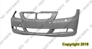 Bumper Front With Sensor/Headlamp Wash Hole Primed Sedan 3.0L/Wagon CAPA BMW 3-Series 2006-2008