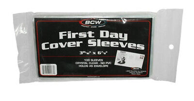 1000 First Day Cover Sleeves. 10 Packs of 100 BCW. #6 Envelope (3 15/16 X 6 7/8)