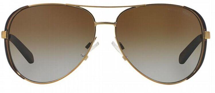 NWT Michael Kors Sunglasses MK 5004 1014T5 Polarized Gold /