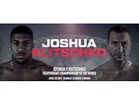 Anthony Joshua VS Klitschko Tickets