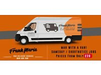 Frank Maria VDS Trans LTD. Man and Van 24/7 UK/Nationwide Local from £20.