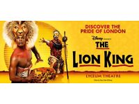 Lion king theatre tickets - 1st May - royal circle seats - LESS THAN FACE VALUE