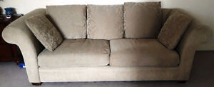 Low seating Couch and Loveseat with matching pilow set