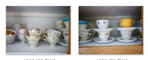 tea cups and saucers vintage