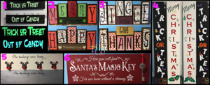 Halloween/Thanksgiving/Christmas Decor Wood Signs