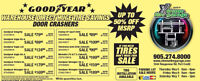 THE ANNUAL GOODYEAR TIRE SALE 3 DAYS ONLY SAVE UPTO 50% ON TIRES