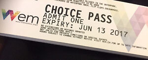 WEM Attraction Choice  Passes FOR SALE