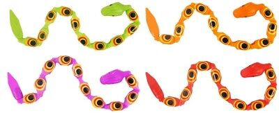 (Plastic Sneaky Snakes Toys Bendy Loot Party Bag Fillers Prizes Games Pinnata Toy)