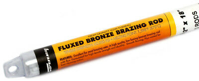 Forney 48490 Bronze Brazing Rod, Flux Coated, Low Fuming, 3/32