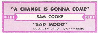 Juke Box Strip Sam Cooke - A Change Is Gonna Come / Sad Mood ()