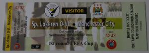 old TICKET UEFA KSC Lokeren Belgium Manchester City England - <span itemprop=availableAtOrFrom>Poznan, Polska</span> - old TICKET UEFA KSC Lokeren Belgium Manchester City England - Poznan, Polska