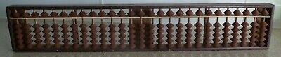 Vintage Japanese Wooden SOROBAN (Abacus):  27 Rods:  5 x 1