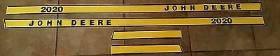 John Deere 2020 Hood Decal Set. Great Quality.
