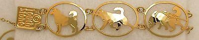 Alaskan Malamute Jewelry (Alaskan Malamute Jewelry Gold Bracelet by Touchstone Dog)