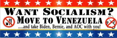 REJECT SOCIALISM - ANTI BIDEN, BERNIE, AOC -  ANTI DEMOCRAT BUMPER STICKER