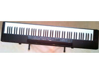 YAMAHA P80 keyboard with stand and foot pedal