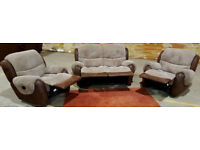 2 + 1 + 1 seater recliner sofas