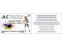 Female painters, decorators and cleaners