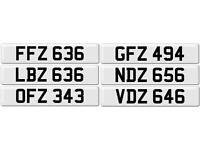3x3 Digit Number Plates BMW M3 Audi VW Caddy Mercedes Transit Ford