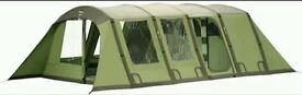 Vango tent airbeam shangri-la luxurious poly-cotton in clover green spacious 5 beam tunnel tent