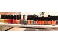 Ex salon job lot nail varnishes