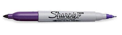 3 Sharpie Twintip Fine Ultrafine Pt Purple Permanent Markers 1972247 New