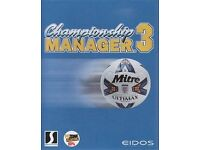 Championship manager 3 pc game for sale