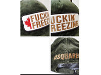 Dsquared2 Corduroy caps. 3 colours available, khaki green, black and navy blue.