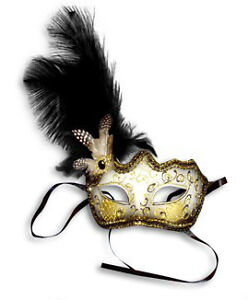 Feather Glitter Venetian Style Masquerade Ball Party Mask Unisex Carnival Mask