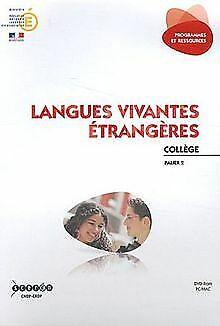Langues vivantes étrangères collège palier 2 (1dvd) d... | livre | état très bon