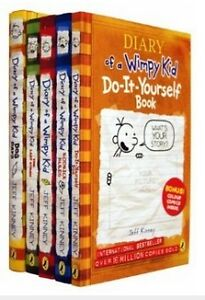 NEW-Diary-of-a-wimpy-kid-5-books-Box-set-collection-by-Jeff-Kinney-Fast-Dispatch