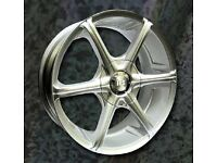 NEW 17'' ICE COOL RACING IKON 2 ALLOY WHEELS 4X100 4X108 FORD VAUXHALL HONDA MINI etc