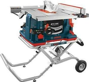 10 In. REAXX™ Jobsite Table Saw with Gravity-Rise™ Wheeled Stand