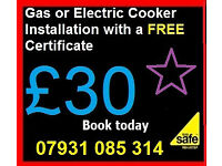 Gas Electric Engineer - Cooker Installation or Disconnections £30 Certficate Plumber corgi oven