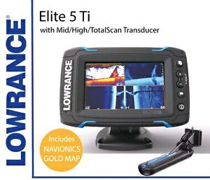 LOWRANCE ELITE 5 Ti TOTALSCAN TRANSDUCER NAVIONICS RRP$1100 Cooroy Noosa Area Preview