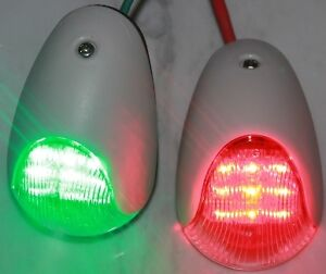 New-12V-LED-WHITE-BOAT-NAVIGATION-PORT-STARBOARD-LIGHT-Power-Boat