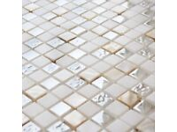Glass Pearl Mosaic Tile Sheet (Better Bathrooms)