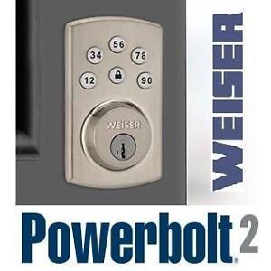 NEW WEISER POWERBOLT 2.0 BRASS - 112332159 - Home - Windows  Doors -Door Locks  Handles   Entry (Electronic Keyless)